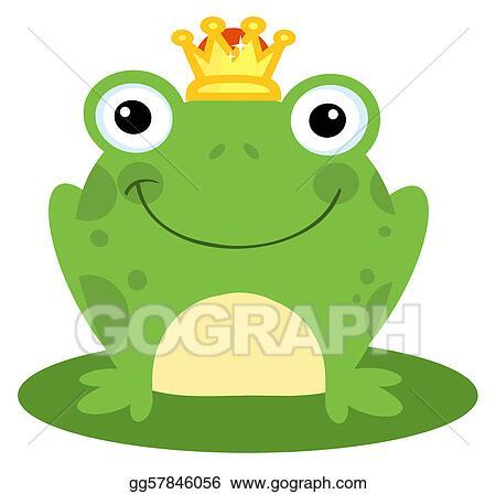 vector stock happy frog prince clipart illustration gg57846056 rh gograph com Baby Frog Clip Art Baby Frog Clip Art