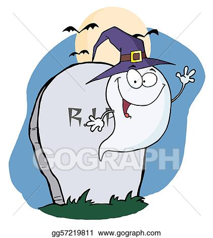 Eps Illustration Happy Ghost Vector Clipart Gg57219811 Gograph