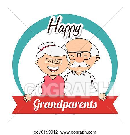 vector art happy grandparents day clipart drawing gg76159912 rh gograph com grandparents day clip art free grandparents day clipart free