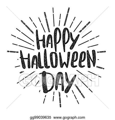 Vector Stock Happy Halloween Party Lettering Stock Clip Art Gg99039635 Gograph