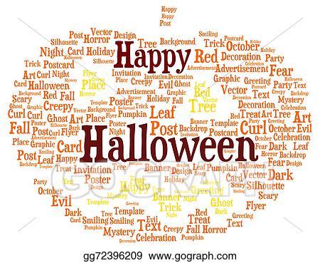 happy halloween word cloud shaped as a pumpkin