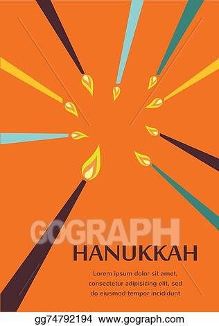 Eps illustration happy hanukkah greeting card design jewish happy hanukkah greeting card design jewish holiday m4hsunfo