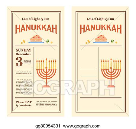 Eps vector happy hanukkah greeting card design snowing holiday happy hanukkah greeting card design snowing holiday template for party invitation hebrew letters on a hanukkah dreidel which stand for the phrase m4hsunfo