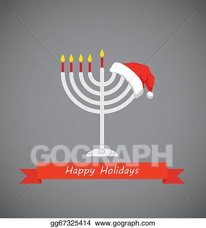 happy holidays merry christmas and happy hanukkah