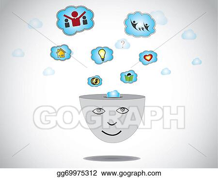 Happy Human Day Dreaming About Success Home Idea Family Money Young Person Face Thinking Gold Dollar Coins Education Ideas Finding Love