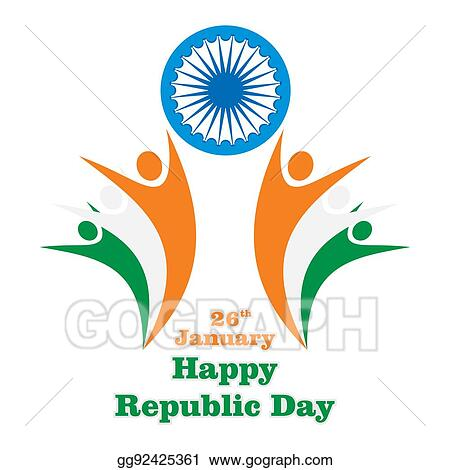 Drawings Happy Indian Republic Day Stock Illustration Gg92425361