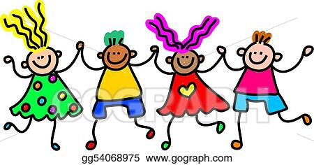 stock illustration happy kids clipart drawing gg54068975 gograph rh gograph com happy kid clipart happy kid clipart