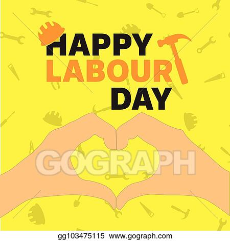 Vector illustration happy labour day greeting card poster vector happy labour day greeting card poster vector m4hsunfo