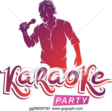 Vector clipart happy man with microphone sings karaoke live music happy man with microphone sings karaoke live music concert vector invitation leaflet karaoke party writing stopboris Choice Image