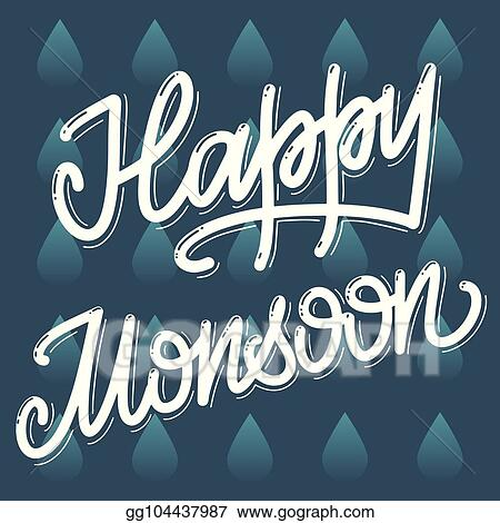 Vector Stock Happy Monsoon Day Stock Clip Art Gg104437987 Gograph