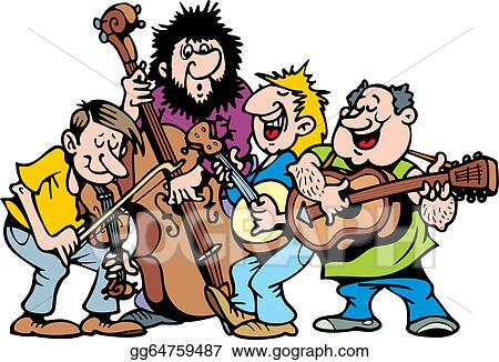 Music band. Eps illustration happy vector