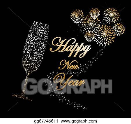 Vector stock happy new year 2014 champagne fireworks background happy new year 2014 champagne fireworks background m4hsunfo