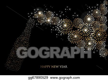 Vector stock happy new year 2014 champagne fireworks greeting card happy new year 2014 champagne fireworks greeting card m4hsunfo