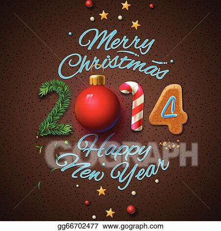 Vector art happy new year 2014 greeting card eps clipart happy new year 2014 greeting card m4hsunfo