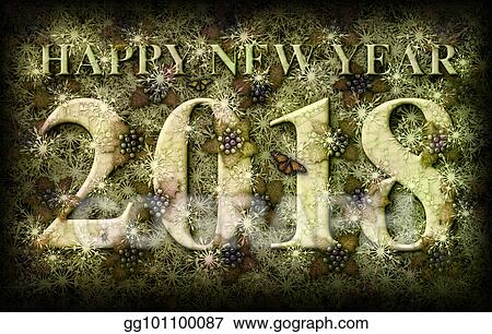 happy new year 2018 nature theme