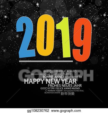 700ea761132e Clip Art Vector - Happy new year 2019 background. Stock EPS ...