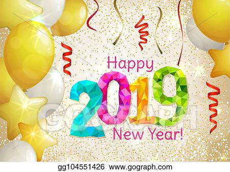 Vector Art Happy New Year 2019 Eps Clipart Gg104551426 Gograph