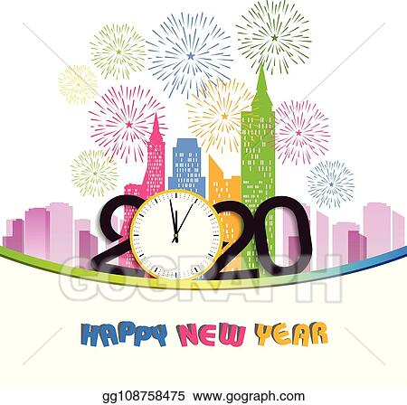 Happy New Year Clipart 2020 36