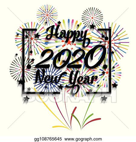 Vector Illustration - Happy new year 2020 background with ...