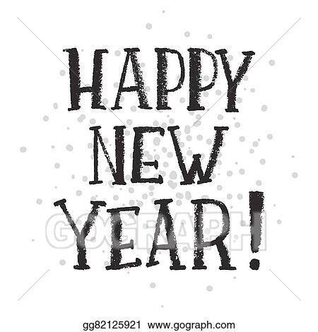 happy new year handwritten text on stipple background