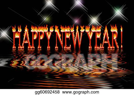 Drawing happy new year letters in fire flooding water clipart drawing happy new year letters in fire flooding water on black background clipart drawing gg60692458 thecheapjerseys Image collections