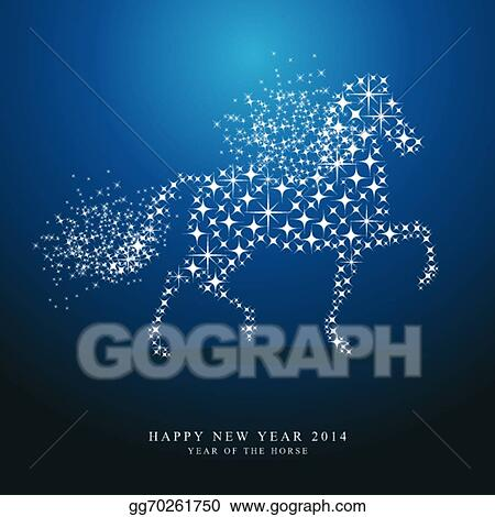 Vector stock happy new year of horse 2014 stars greeting card happy new year of horse 2014 stars greeting card m4hsunfo