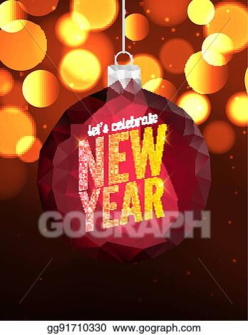 happy new year vector poster background greeting banner flyer design template christmas celebration invitation