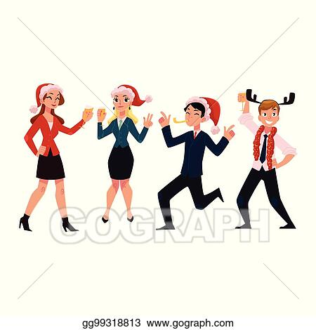 858 Office Christmas Party Illustrations, Royalty-Free Vector Graphics & Clip  Art - iStock