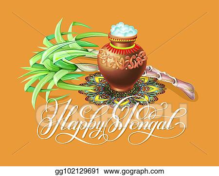 Vector stock happy pongal greeting card to south indian winter happy pongal greeting card to south indian winter holiday design m4hsunfo