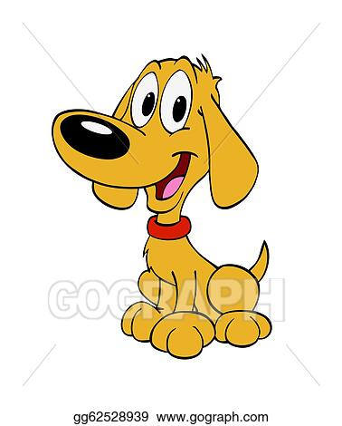 stock illustration happy puppy dog clipart gg62528939 gograph rh gograph com Funny Hungry Hungry Dog Clip Art