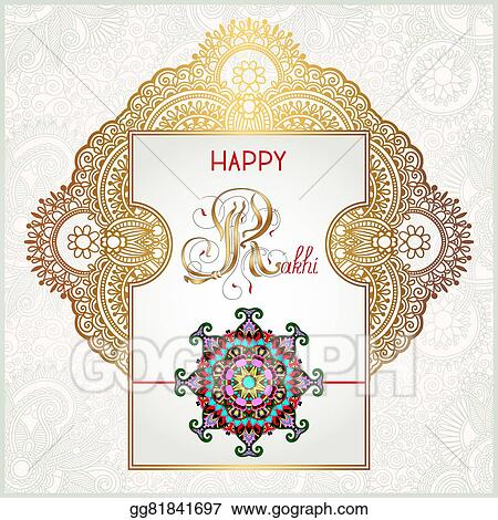 Vector stock happy rakhi greeting card for indian holiday raksha happy rakhi greeting card for indian holiday raksha bandhan m4hsunfo
