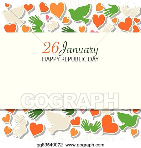 Vector Art Happy Republic Day India Templates For Postcard