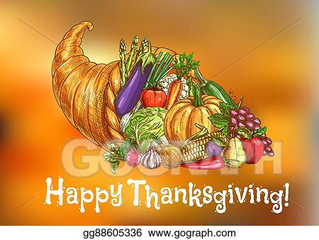 Vector art happy thanksgiving day greeting card eps clipart happy thanksgiving day greeting card m4hsunfo