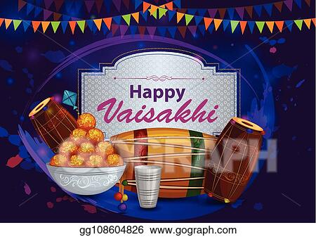 Vector Illustration - Happy vaisakhi punjabi religious holiday