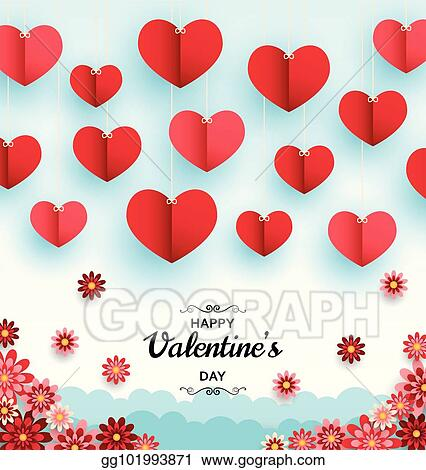Clip art vector happy valentine day background good design happy valentine day background good design template for banner greeting card flyer paper art flowers and hearts m4hsunfo