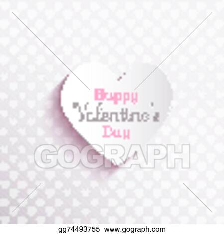 Vector Illustration Happy Valentines Day Background 1612 Eps