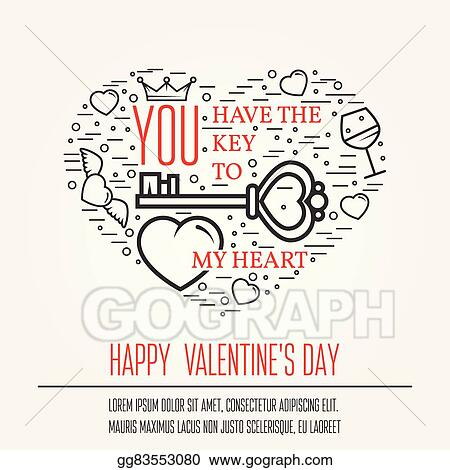 Vector Illustration Happy Valentine S Day Greetings Card Labels