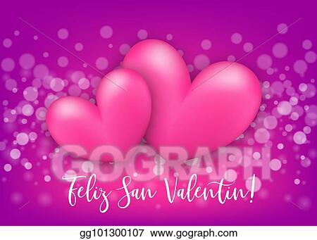 Vector Art Happy Valentines Day Heart Greeting Card Clipart