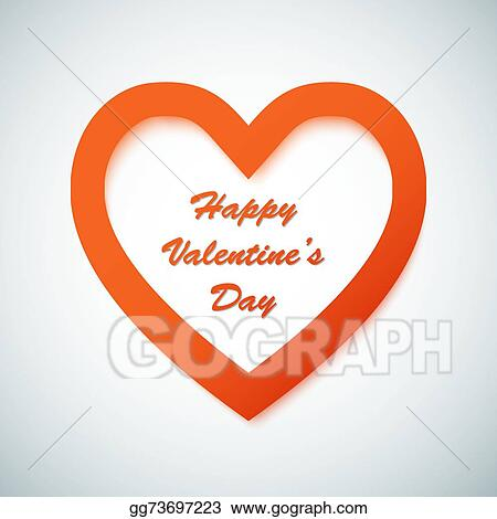 Vector Stock Happy Valentine S Day Vector Background With Heart