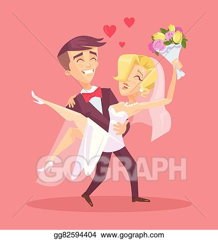 Vector Stock Happy Wedding Couple Clipart Illustration Gg82594404 Gograph