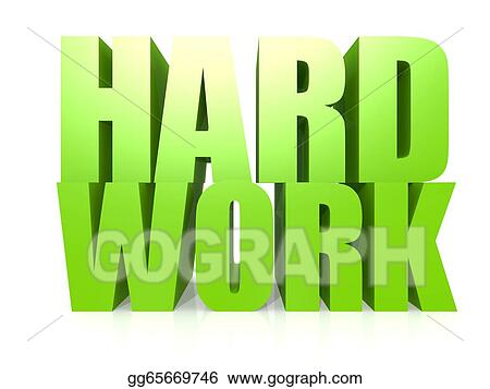 stock illustration hard work word clipart gg65669746 gograph