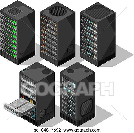 Vector Art Hardware Isometric Equipment 3d Telecommunication
