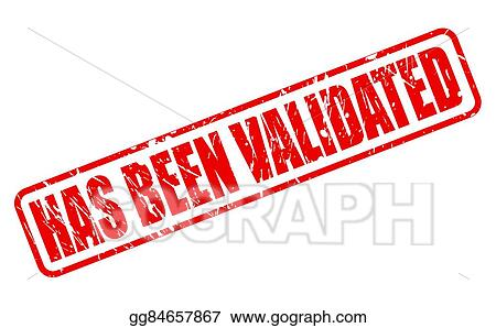 Has Been Validated Red Stamp Text