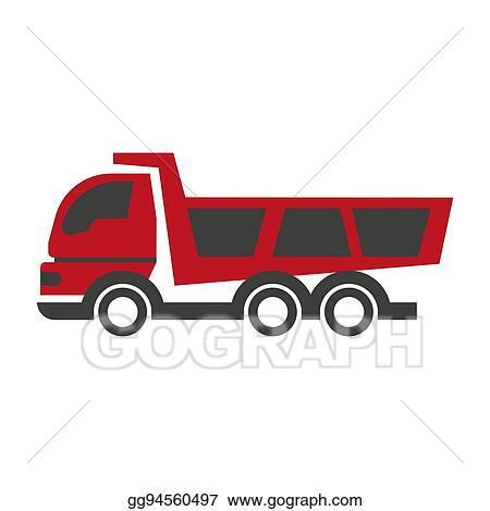 Vector Stock Haul Or Dump Truck Logo Icon Dumper And Tipper
