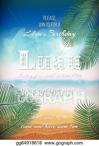 vector illustration hawaiian party luau feast poster flyer
