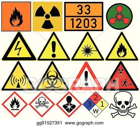 Eps Vector Hazard Symbols Generic Caution Poison Radiation