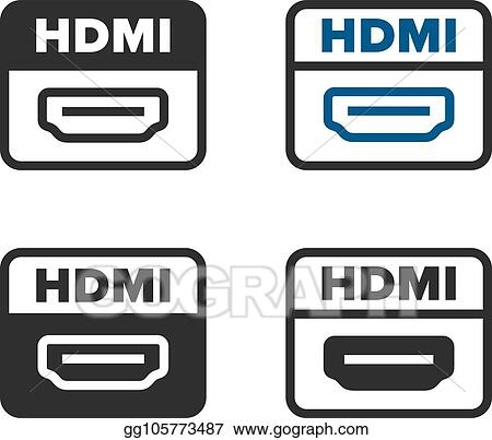 vector illustration hdmi port icons eps clipart gg105773487 gograph vector illustration hdmi port icons