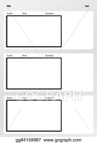 Stock Illustration - Hdtv Storyboard Template 3 Frame. Clipart