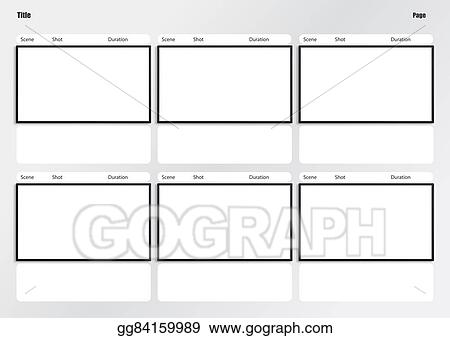 Stock Illustration Hdtv Storyboard Template 6 Frame Stock Art