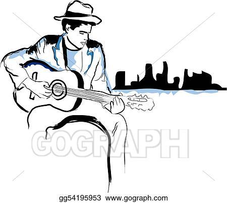 vector illustration he has got the blues eps clipart gg54195953